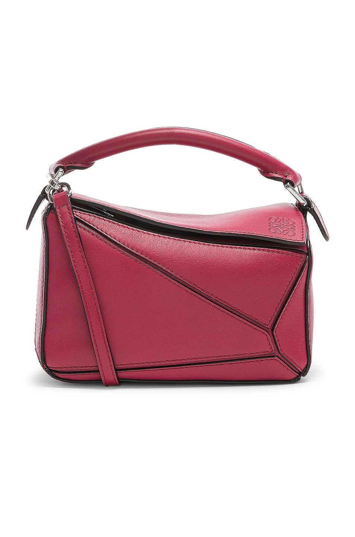 Image 1 of Loewe Puzzle Mini Bag in Raspberry