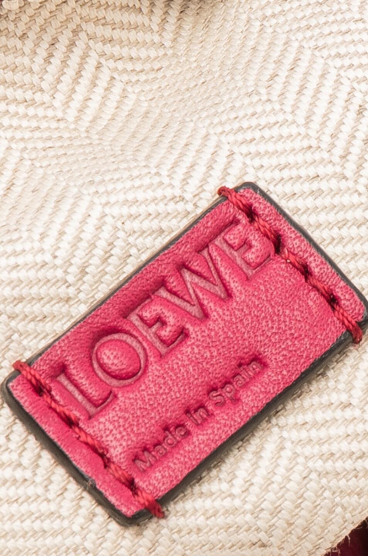 Image 7 of Loewe Puzzle Mini Bag in Raspberry