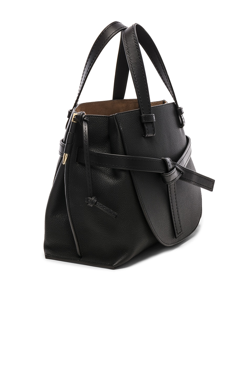 Image 4 of Loewe Gate Small Top Handle in Black