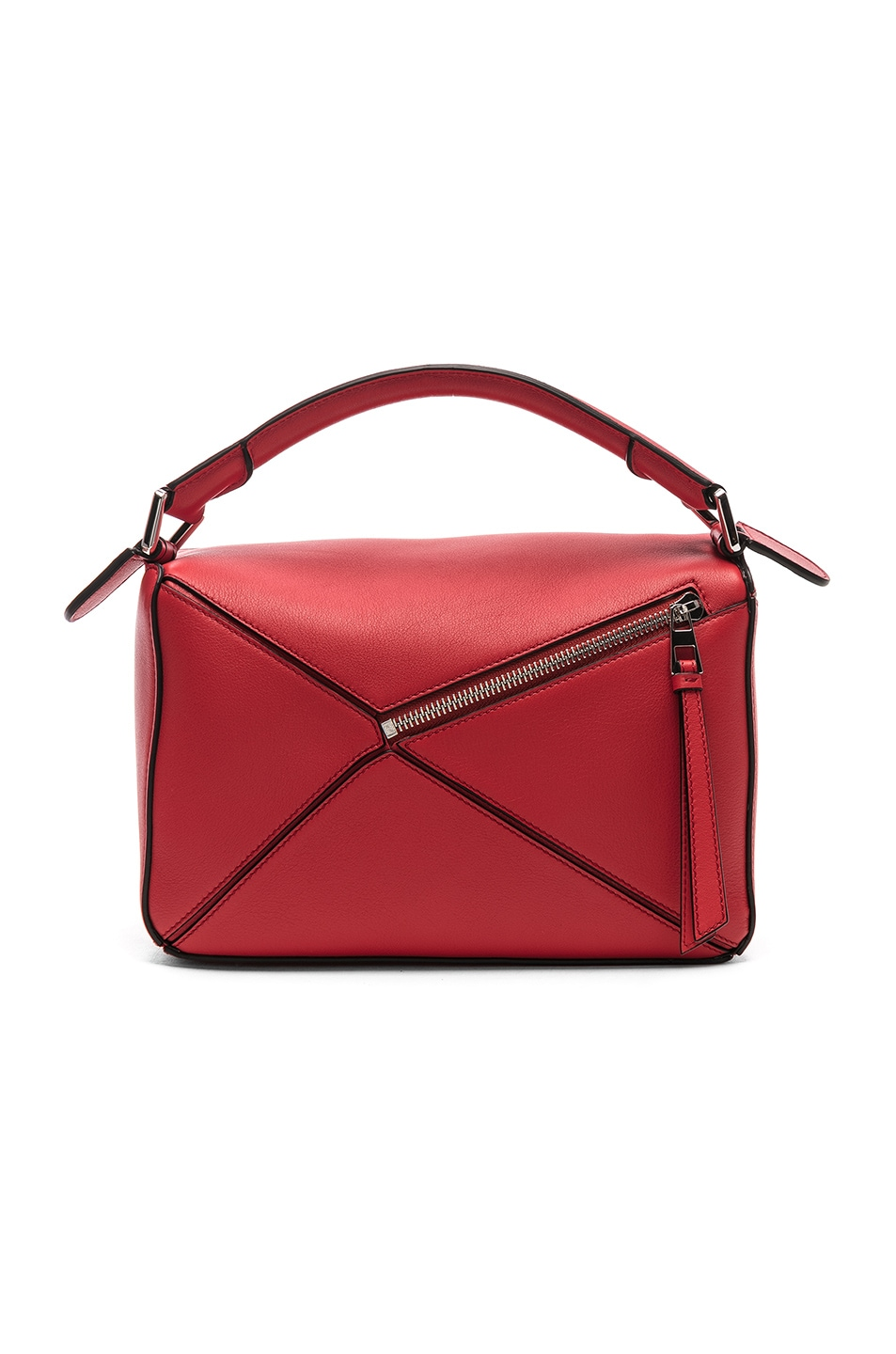 Image 3 of Loewe Puzzle Small Bag in Scarlet Red