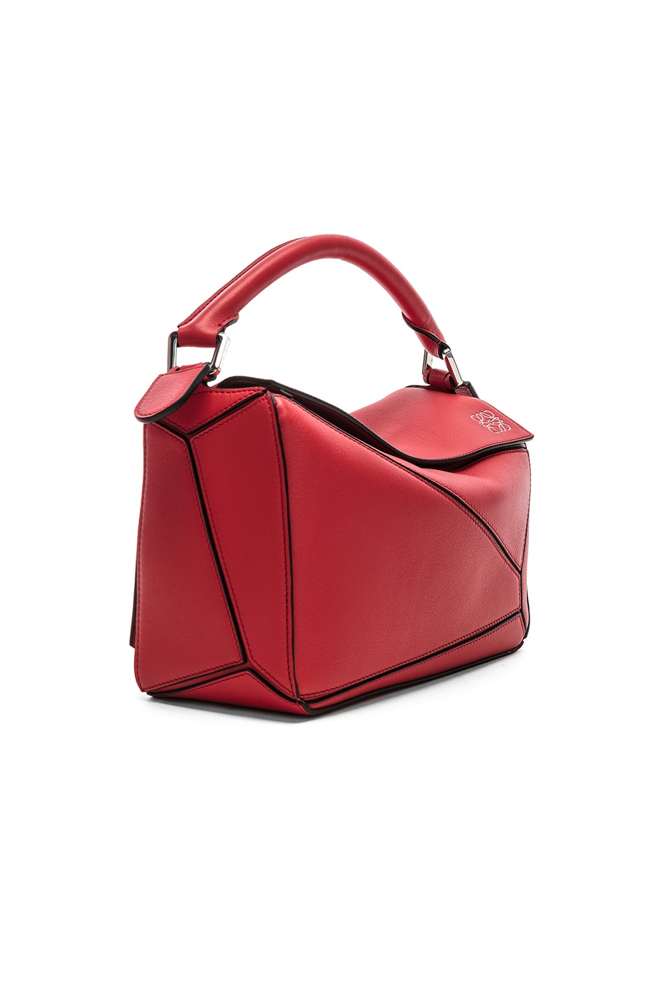 Image 4 of Loewe Puzzle Small Bag in Scarlet Red