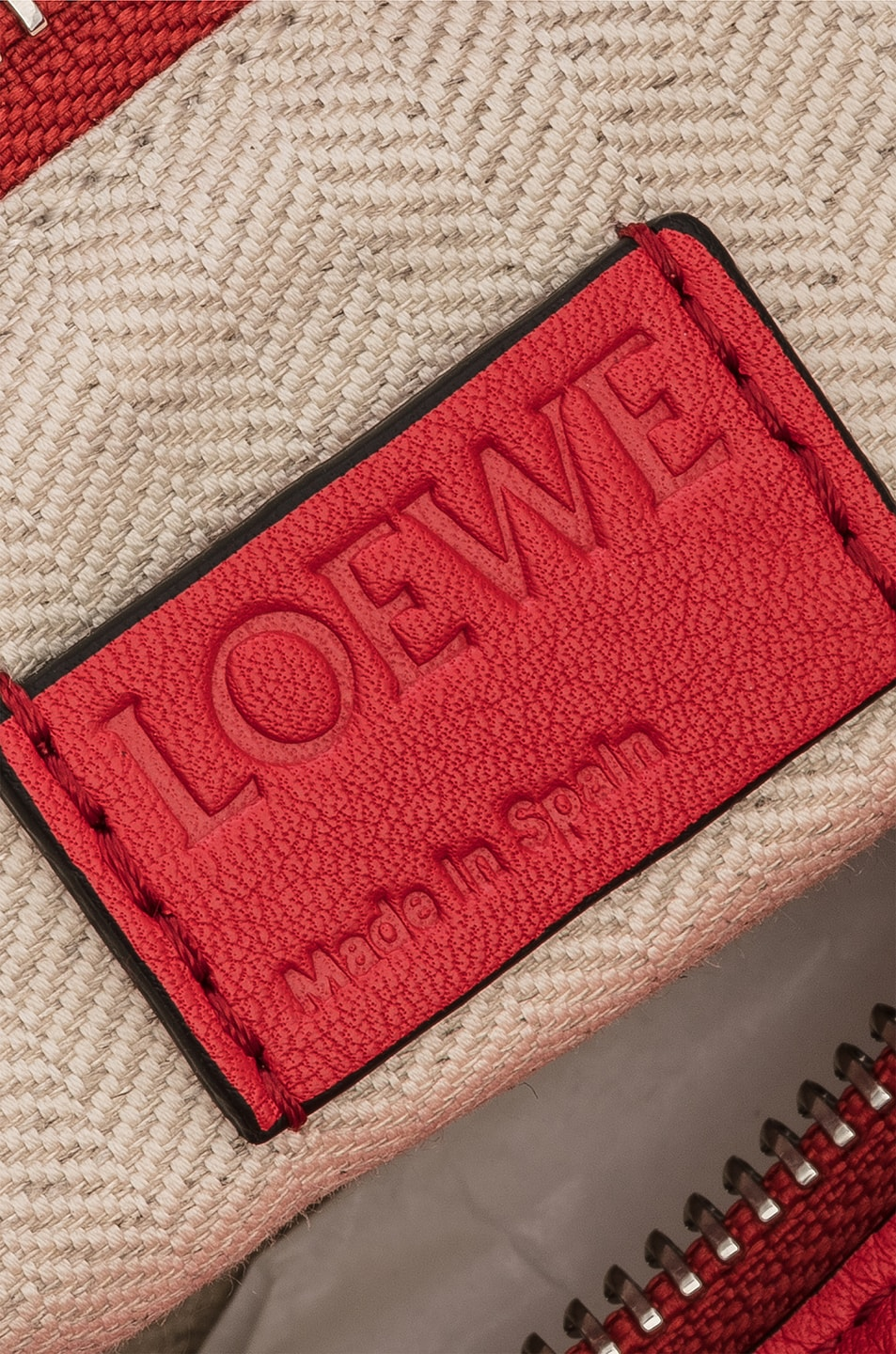Image 7 of Loewe Puzzle Small Bag in Scarlet Red