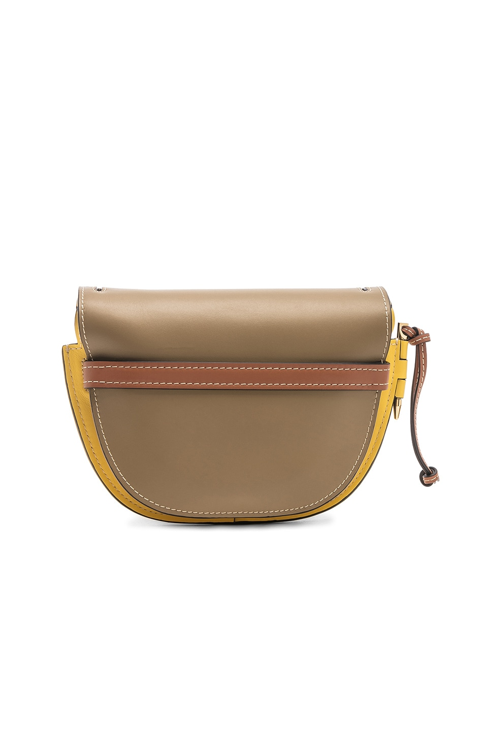 Image 3 of Loewe Gate Small Bag in Leaf & Yellow