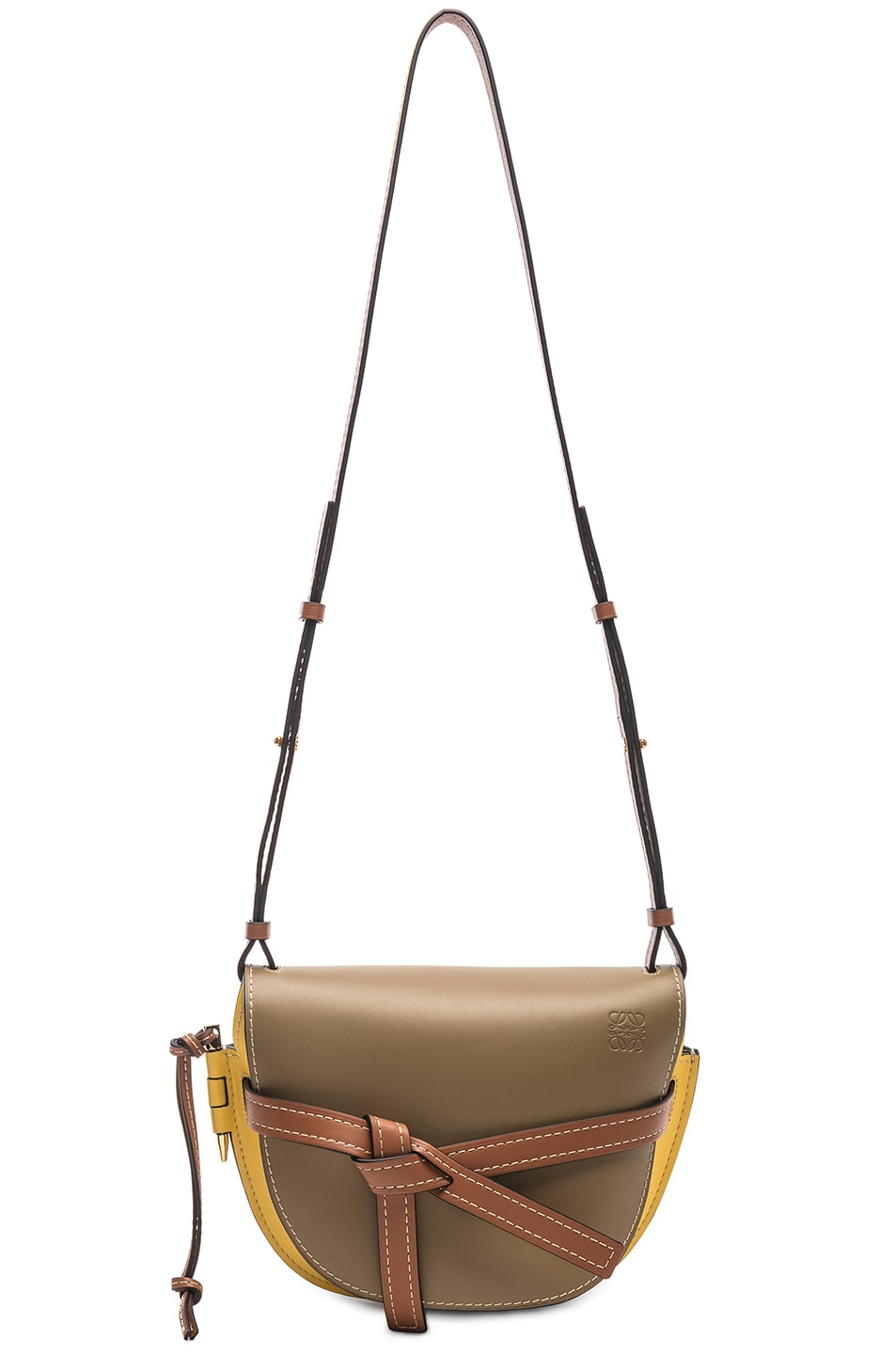Image 6 of Loewe Gate Small Bag in Leaf & Yellow