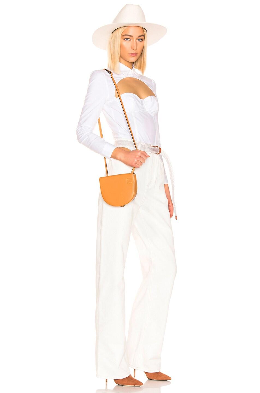Image 2 of Loewe Heel Mini Bag in Amber