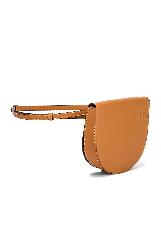 Image 4 of Loewe Heel Mini Bag in Amber