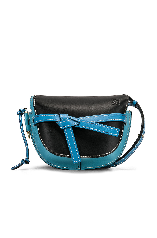 Image 1 of Loewe Gate Small Bag in Black & Light Blue