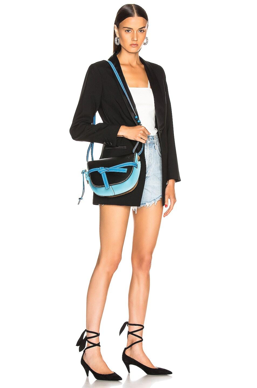 Image 2 of Loewe Gate Small Bag in Black & Light Blue
