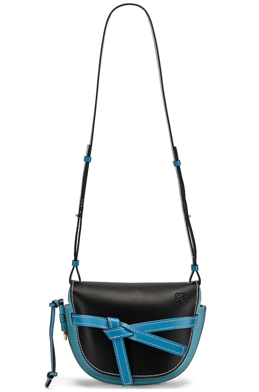 Image 6 of Loewe Gate Small Bag in Black & Light Blue