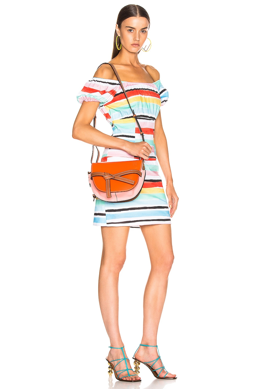 Image 2 of Loewe Gate Small Bag in Orange & Blossom