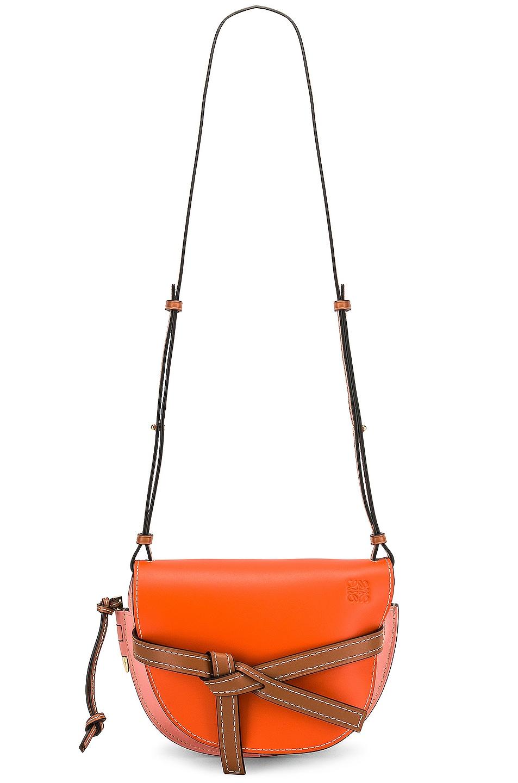 Image 6 of Loewe Gate Small Bag in Orange & Blossom