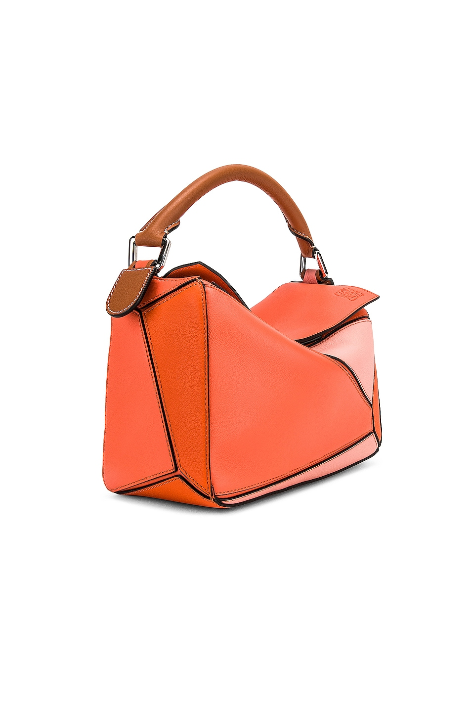 Image 4 of Loewe Puzzle Small Bag in Blossom & Bright Peach