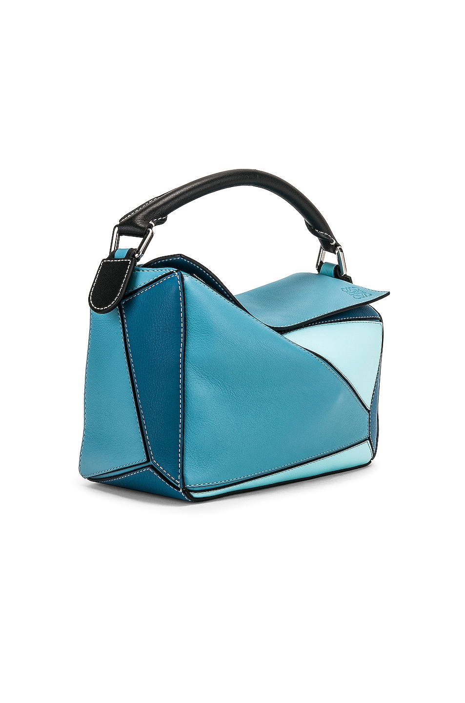 Image 4 of Loewe Puzzle Small Bag in Light Blue & Aqua