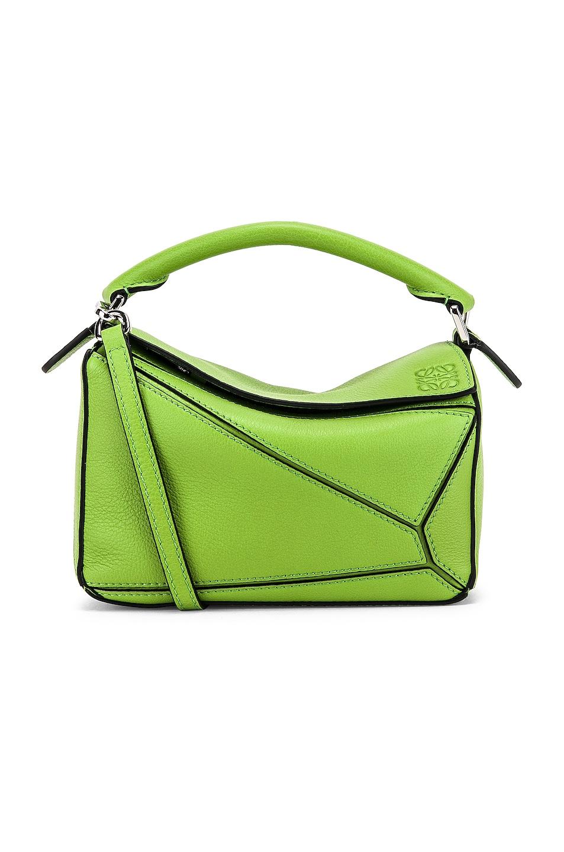 Image 1 of Loewe Puzzle Mini Bag in Green