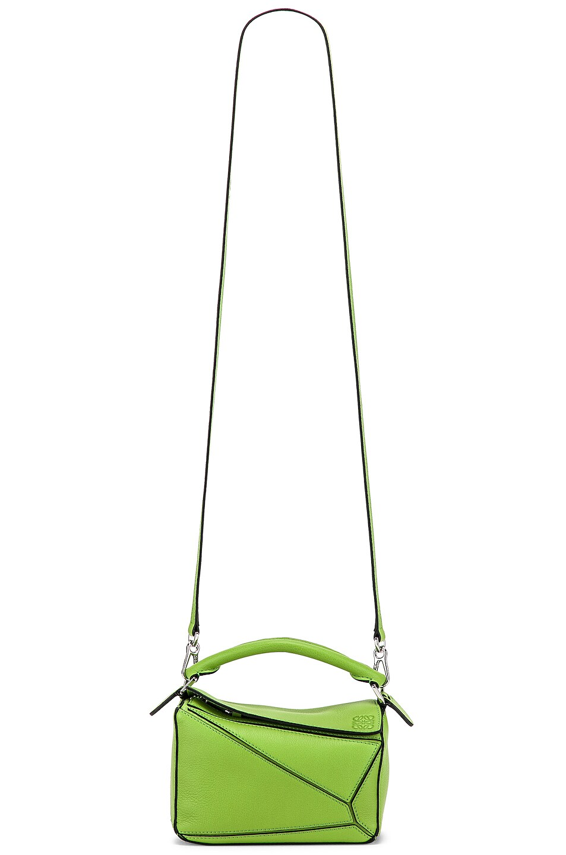 Image 6 of Loewe Puzzle Mini Bag in Green