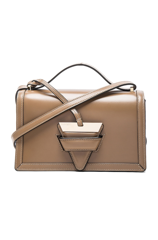 Medium Barcelona Leather Crossbody Bag - Brown