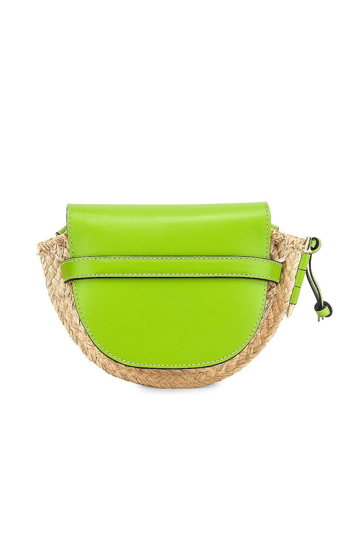 Image 3 of Loewe Mini Gate Bag in Green & Natural