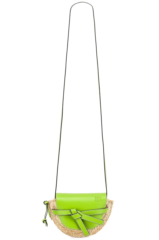 Image 6 of Loewe Mini Gate Bag in Green & Natural