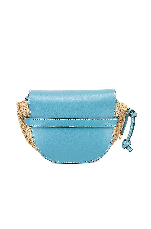 Image 3 of Loewe Mini Gate Bag in Light Blue & Natural
