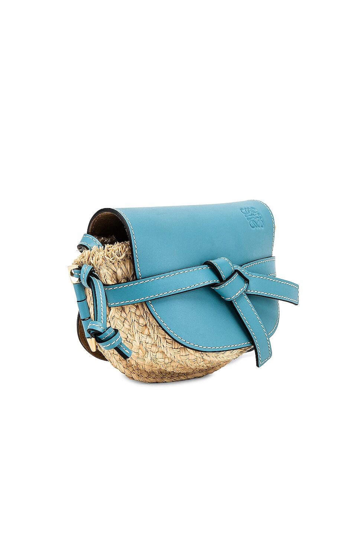 Image 4 of Loewe Mini Gate Bag in Light Blue & Natural