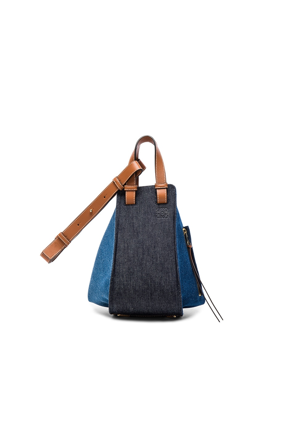 Image 1 of Loewe Hammock Small Bag in Denim & Tan