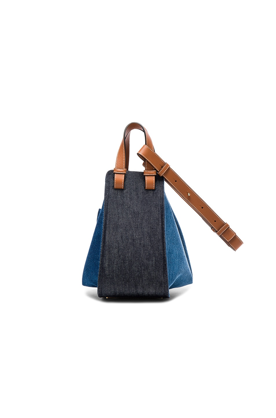 Image 2 of Loewe Hammock Small Bag in Denim & Tan