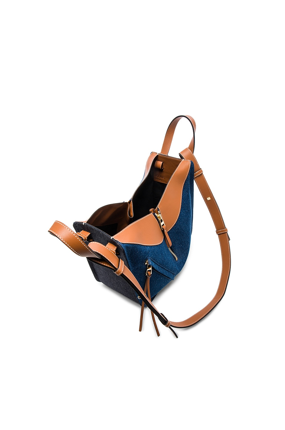 Image 4 of Loewe Hammock Small Bag in Denim & Tan