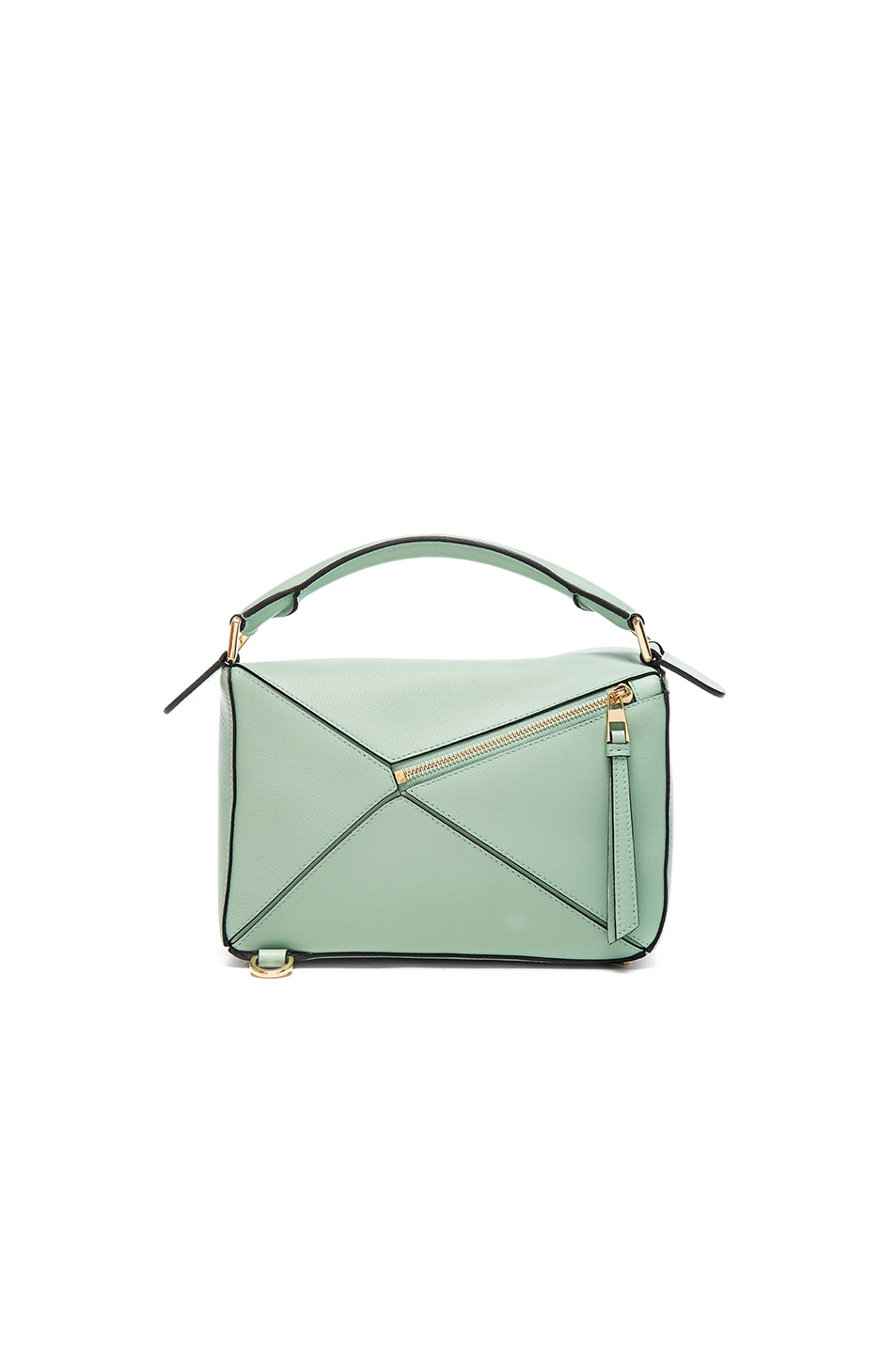 Image 2 of Loewe Puzzle Small Bag in Sea Water Green