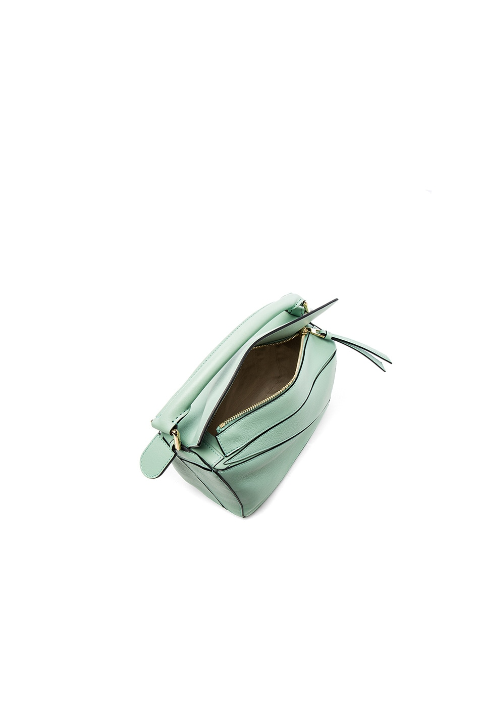 Image 4 of Loewe Puzzle Small Bag in Sea Water Green