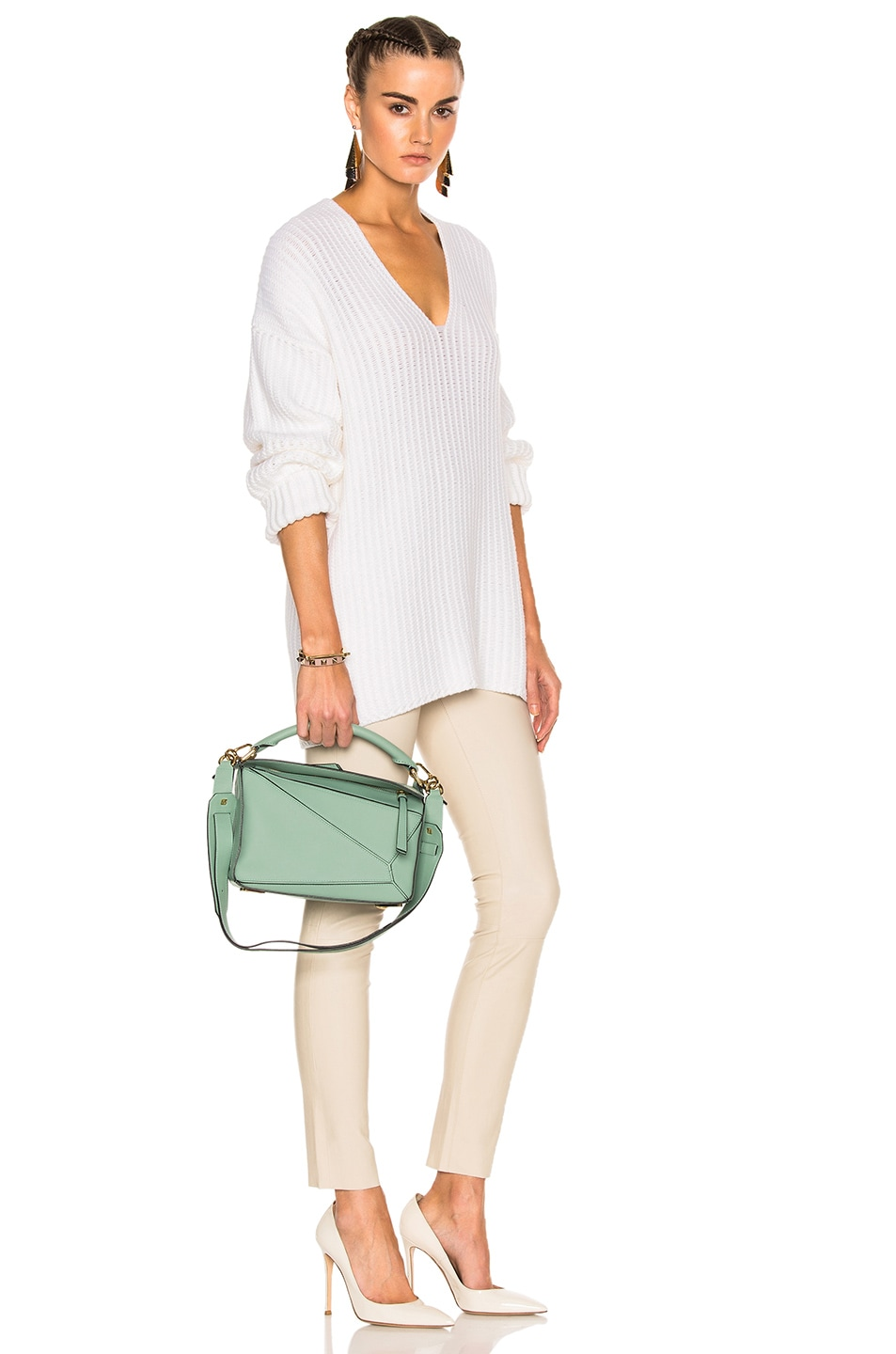 Image 6 of Loewe Puzzle Small Bag in Sea Water Green