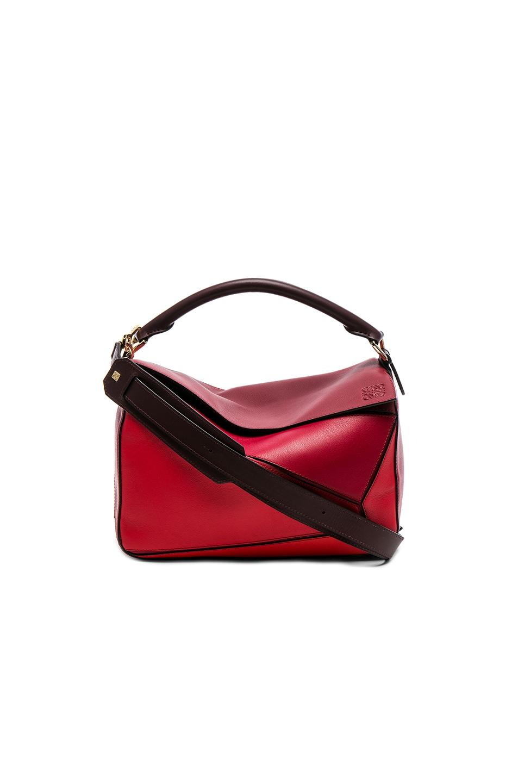 Image 1 of Loewe Puzzle Bag in Red Multi
