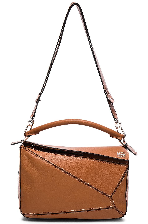 Image 6 of Loewe Puzzle Bag in Tan