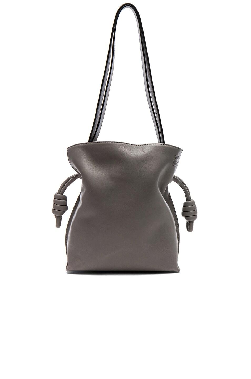 9e4e96eafab1 Image 1 of Loewe Flamenco Knot Small Bag in Smoke Grey