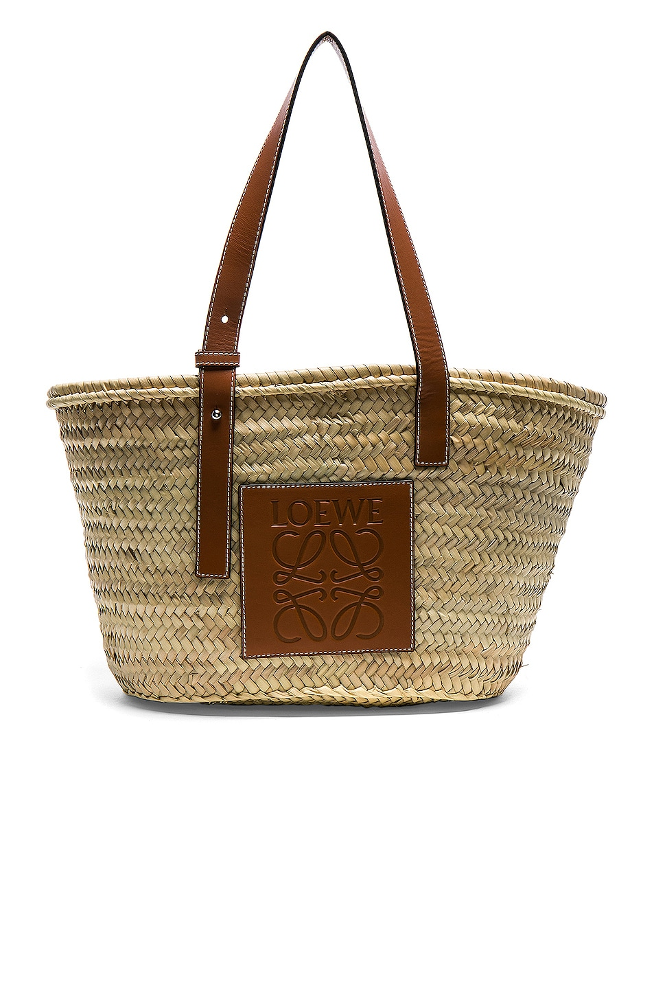 Image 1 of Loewe Basket Bag in Natural & Tan