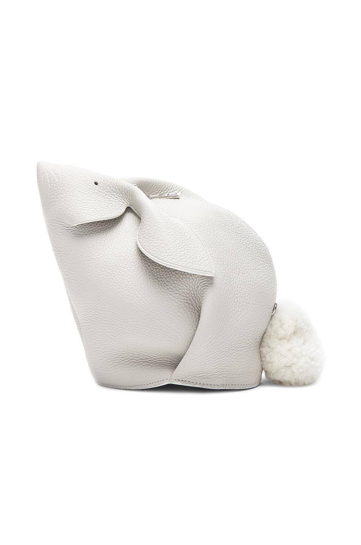 Image 3 of Loewe Mini Bunny Bag in White
