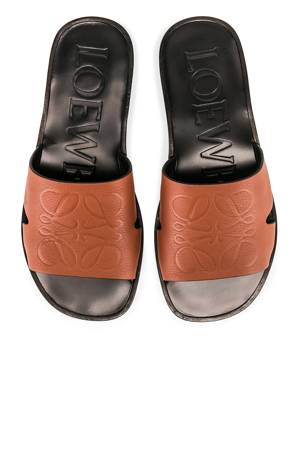 Image 1 of Loewe Anagram Mule in Rust Red