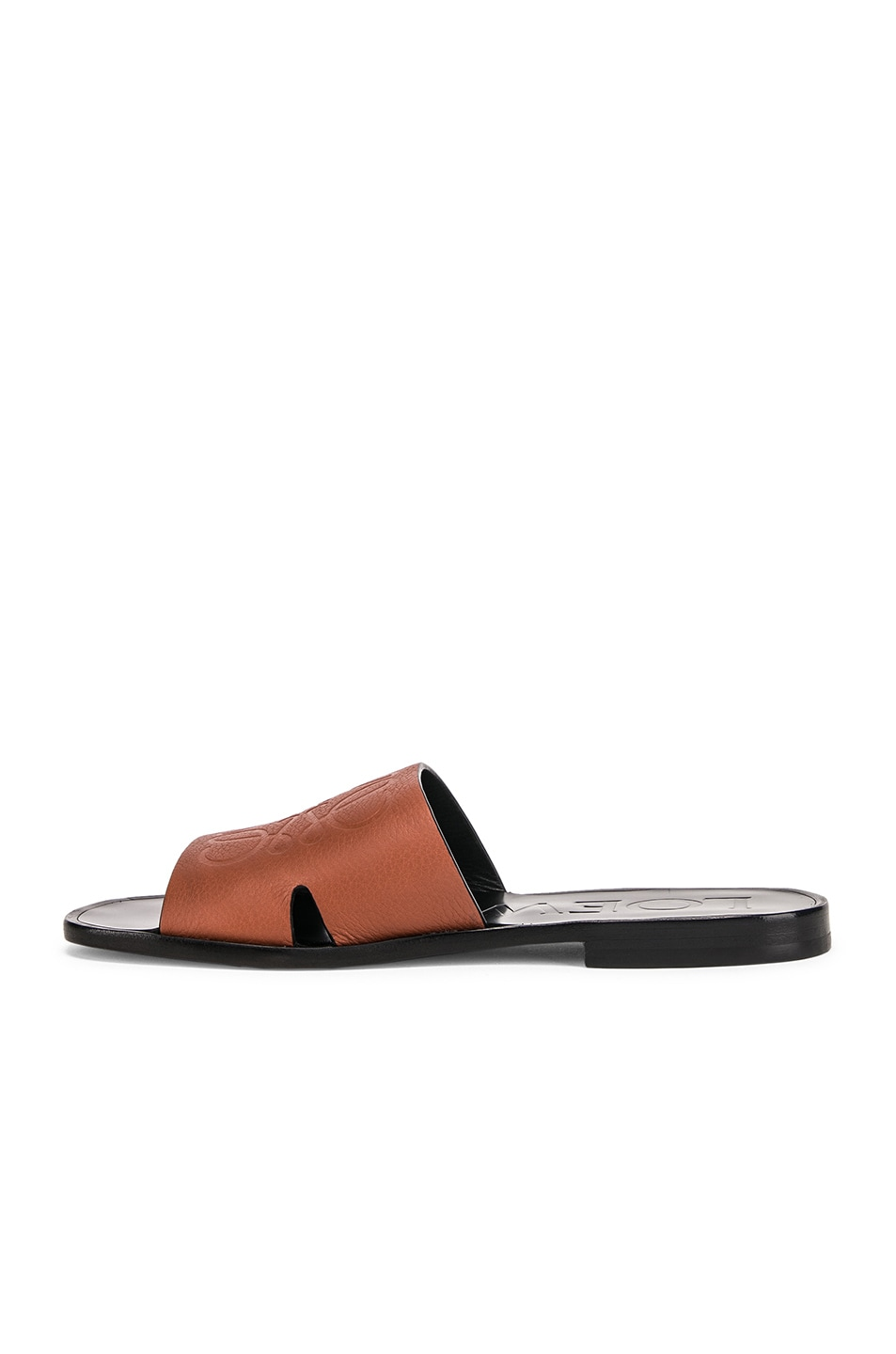 Image 5 of Loewe Anagram Mule in Rust Red