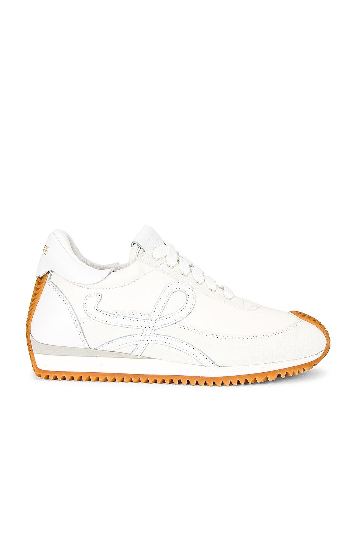 Image 1 of Loewe Flow Runner Sneaker in Soft White