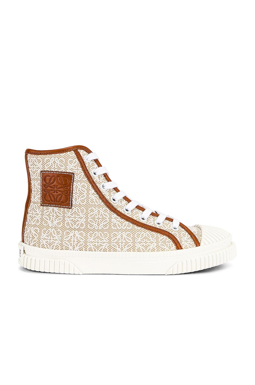 Image 1 of Loewe High Top Sneaker in Natural & White