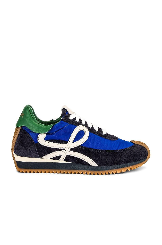 Image 1 of Loewe Flow Runner Sneaker in Royal Blue & Navy