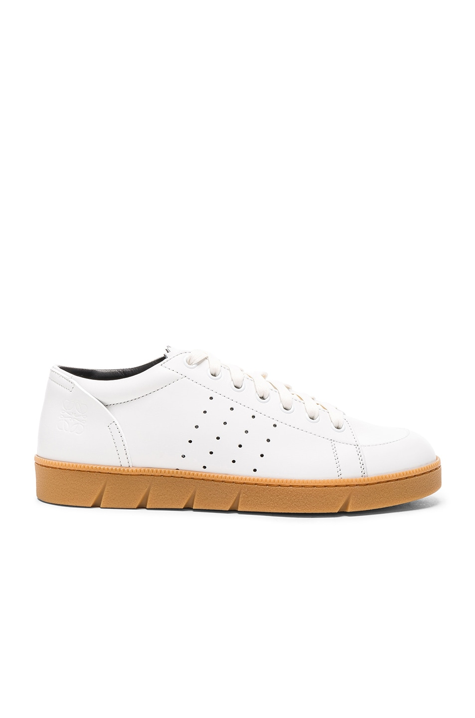 Image 1 of Loewe Leather Sneakers in White