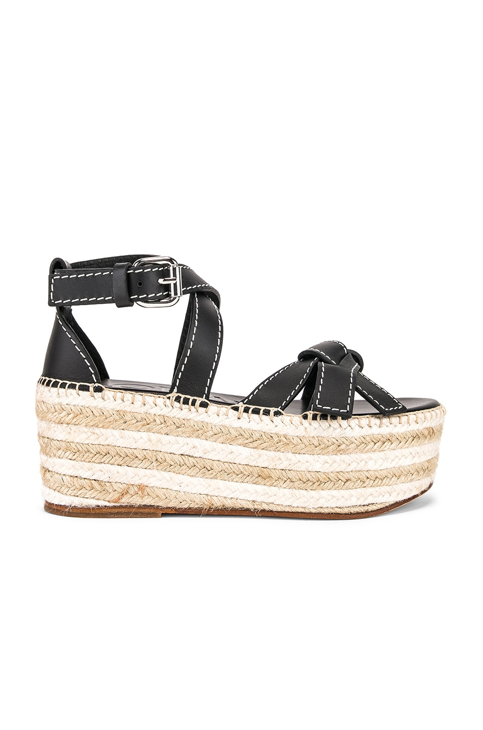 Image 1 of Loewe Gate Wedge Sandal in Black
