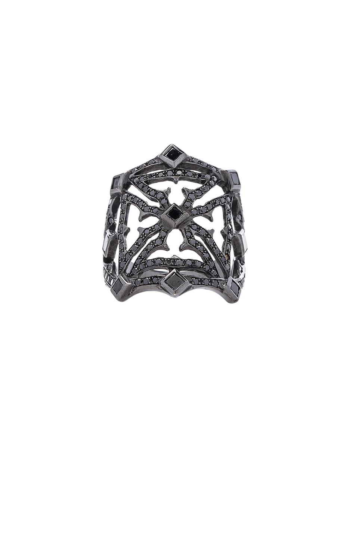 Image 1 of Loree Rodkin Queens Maltese Open Cross Ring in Black