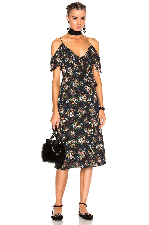 Image 1 of LPA Dress 137 in Black Ditsy