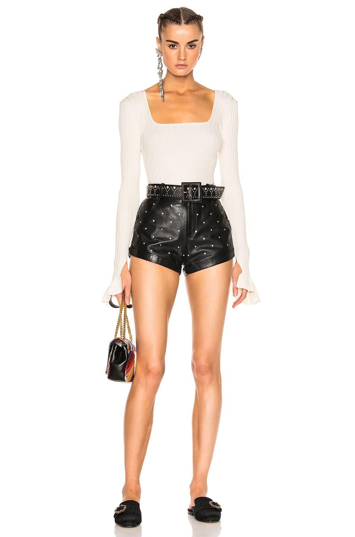 leather shorts lpa