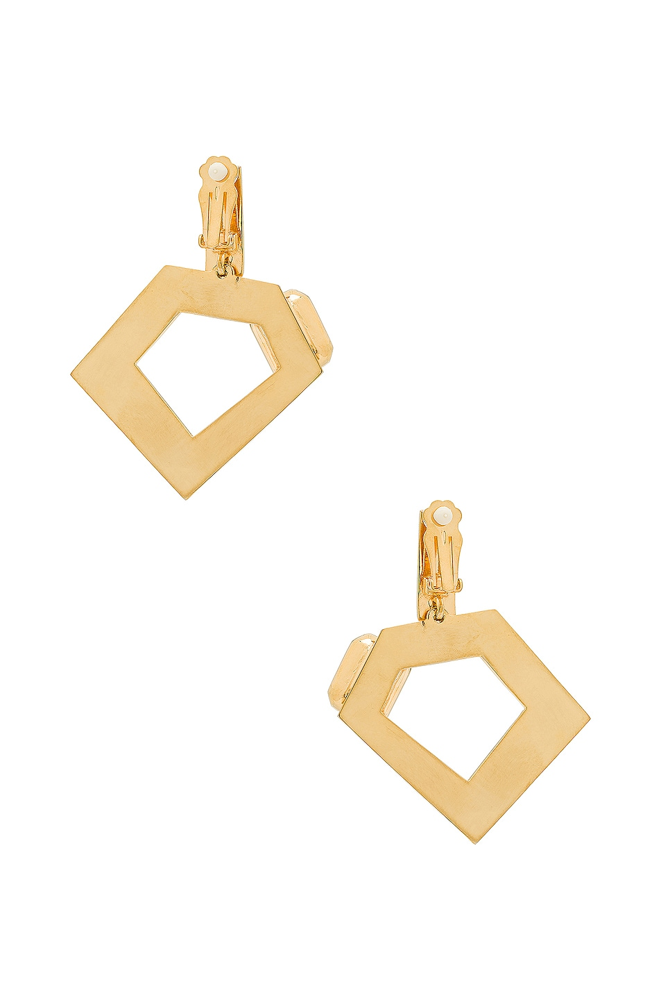 Image 3 of WASSON x LPA for FWRD Penta Hoop Earrings with Crystal in Gold Plated