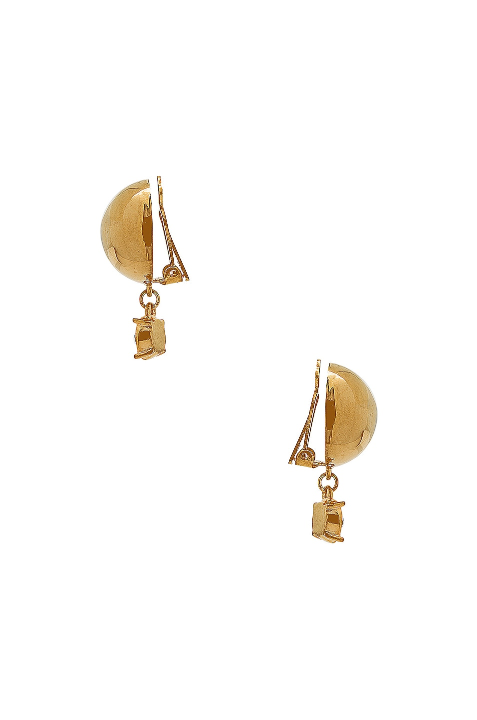 Image 2 of WASSON x LPA for FWRD Sphere Stud Earrings with Crystal in Gold Plated