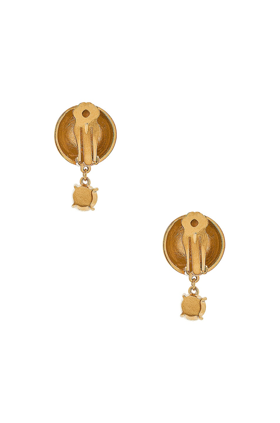 Image 3 of WASSON x LPA for FWRD Sphere Stud Earrings with Crystal in Gold Plated