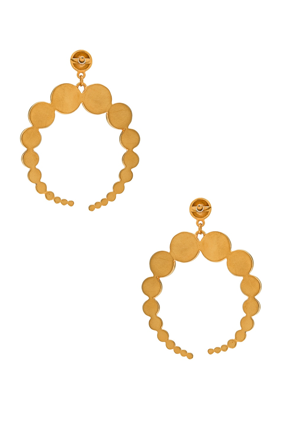 Image 3 of WASSON x LPA for FWRD Crescent Sphere Earrings in Gold Plated