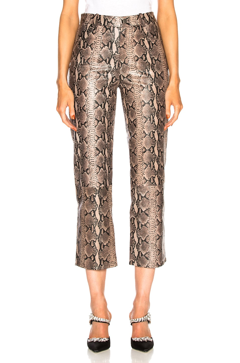 Image 1 of LPA Pant 297 in Tan Snake